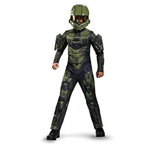 Halo Master Chief muscles 3D jumpsuit costume kids